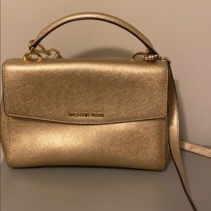 Michael Kors Ava Gold Crossbody Purse